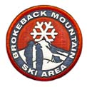 Brokeback Mt. Ski Area Shot Glass